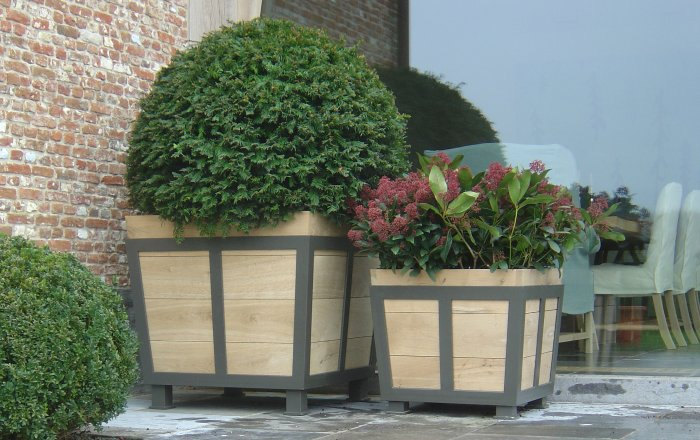 aldo houten plantenbak