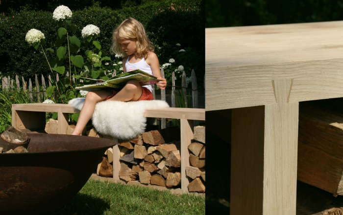 wood staple, oak, compartments