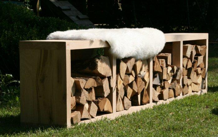 houtberging, eik, bank, houtrek
